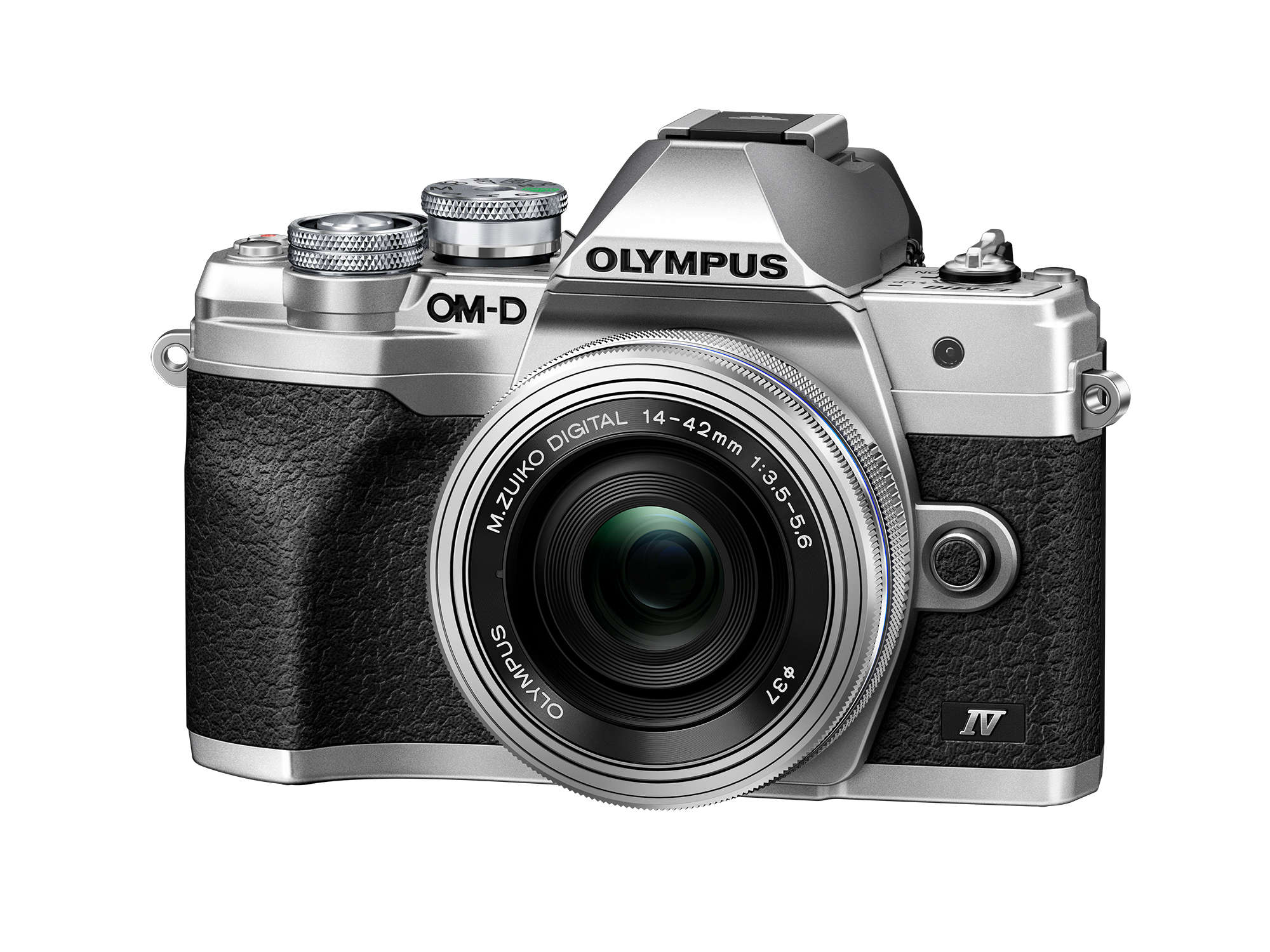 Olympus OM-D E-M10 Mark IV with 14-42EZ Lens Silver Kit