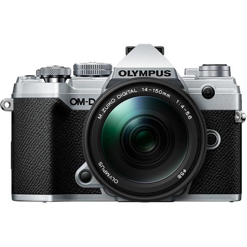 Olympus OM-D E-M5 Mark III Silver Mirorrless Digital Camera with 14-150mm M.Zuiko F4-5.6 II Wide Angle Mirrorless Lens V207091SU000